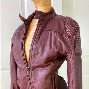 Trish Summerville X H&M leather jacket